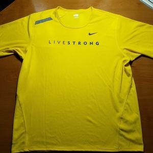 Nike Reflective LiveStrong DriFit Cycling Shirt-XL